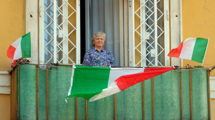Il 25 aprile 2020 dai balconi italiani - CREDITS: web