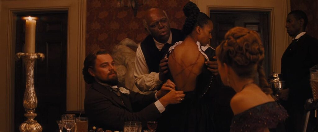 Leonardo DiCaprio, Samuel L. Jackson e Kerry Washington in Django Unchained