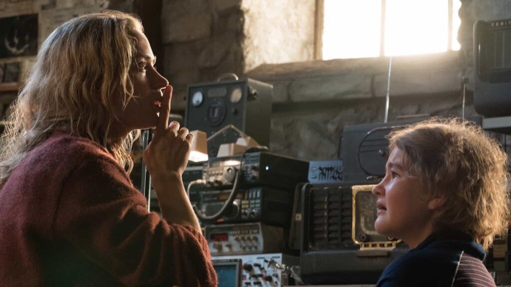Frame tratto dall'horror A quiet Place, in streaming su Netflix