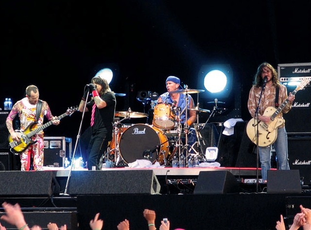 I Red Hot Chili Peppers in concerto - credits: wikipedia