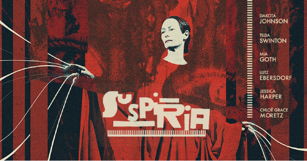 Locandina del film horror Suspiria di Luca Guadagnino, in streaming su Netflix