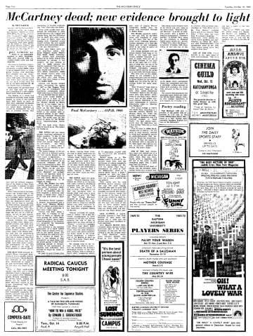 Titoli su Paul McCartney - credits: web