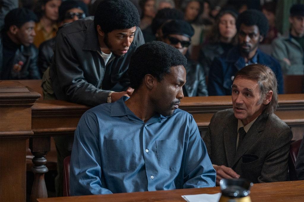 Yahya Abdul-Mateen II, Kelvin Harrison Jr e Mark Rylance in Il processo ai Chicago 7 - CREDITS: Netflix