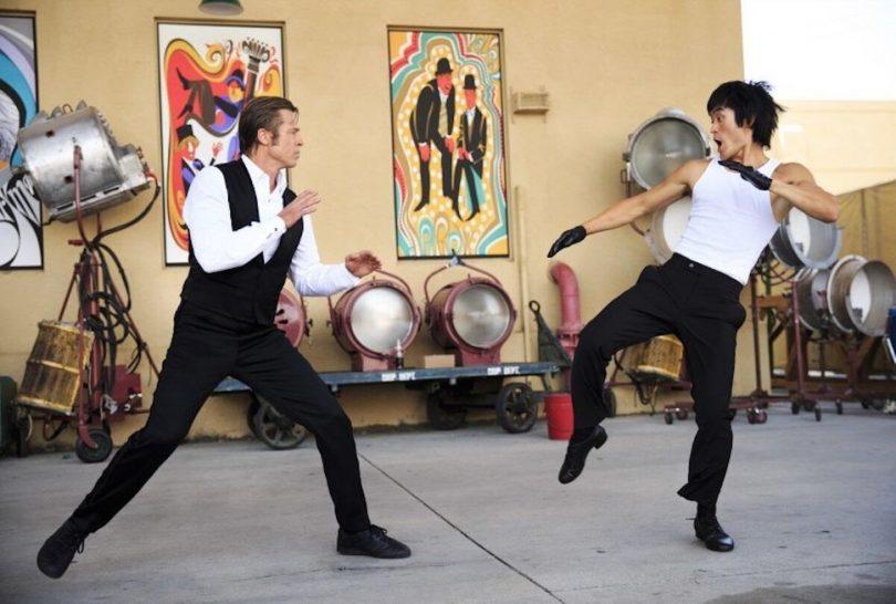 La scena del combattimento in C'era una volta...a Hollywood - credits: IMDB.com