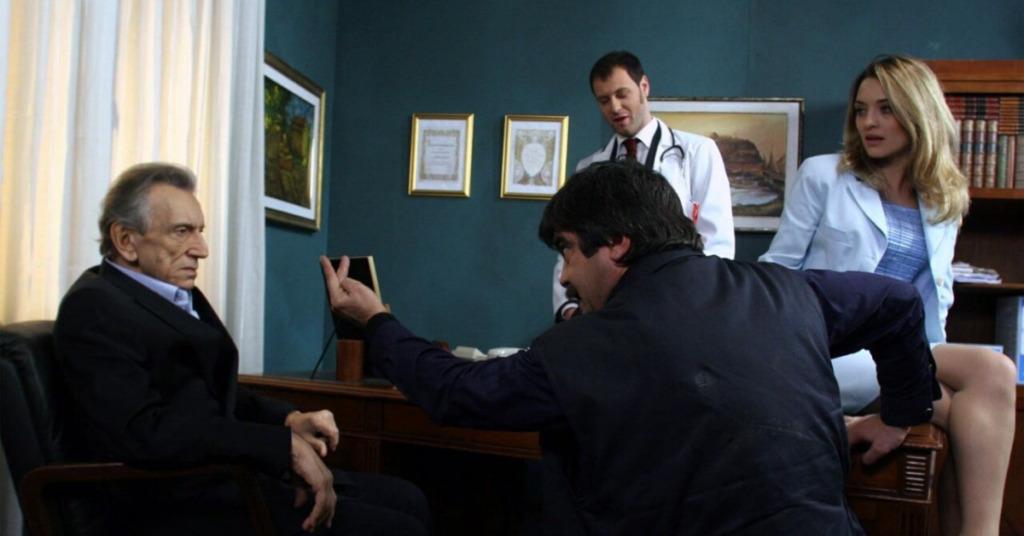 Roberto Herlitzka, Pietro Sermonti, Carolina Crescentini e Francesco Pannofino in Boris - via web