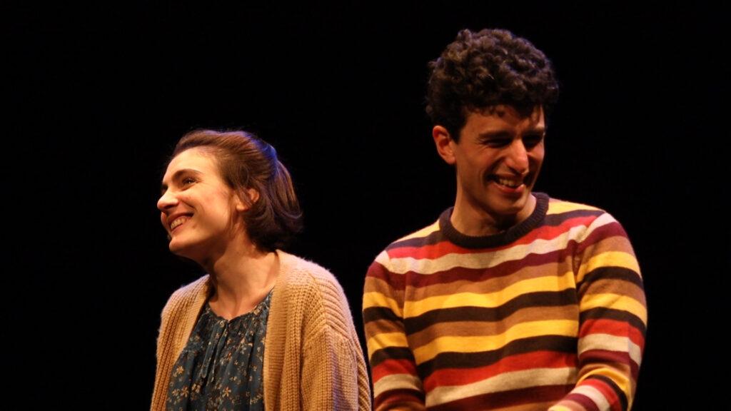 Petra Valentini e Mauro Lamantia in Bobby & Amy - Credits: Teatro Belli