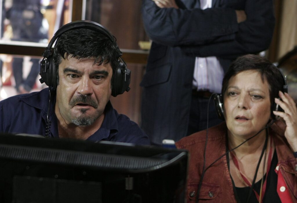 Francesco Pannofino (René) e Roberta Fiorentini (Itala) in Boris - via web