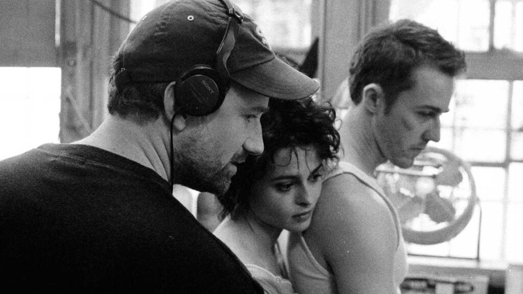 David Fincher, Helena Bonham Carter, Edward Norton - Credits: Empire/Archivio personale Fincher