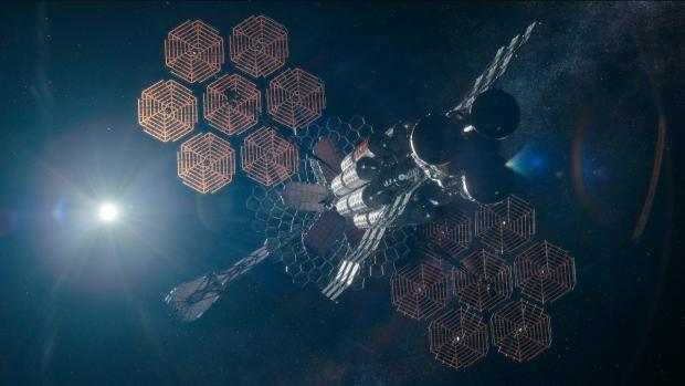 La navicella spaziale in The Midnight Sky - Credits: Netflix