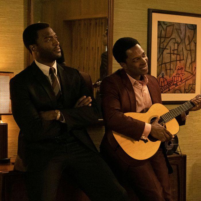 Aldis Hodge (Jim Brown) e Leslie Odom Jr (Sam Cooke) in One Night in Miami - Credits: Amazon Studios
