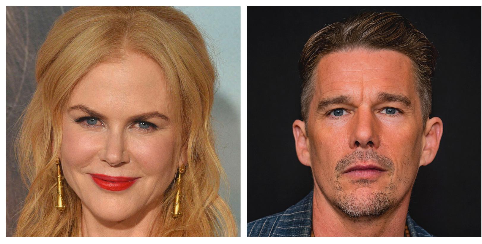 The Northman, Nicole Kidman, Ethan Hawke - Framed Magazine