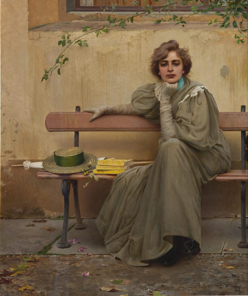 Vittorio Corcos Sogni, 1896, olio su tela, 161x135 cm Courtesy Galleria Nazionale d'Arte Moderna e Contemporanea, Roma