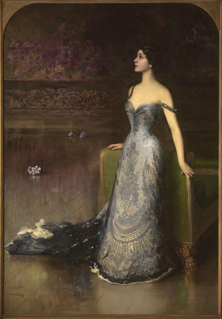 Vittorio Corcos Ritratto di Lina Cavalieri, 1903, olio su tela, 265x178 cm. Collezione Privata