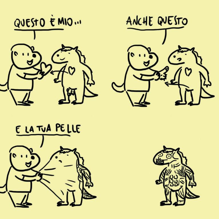Tavola di Creature Maleducate - Credits: PinkNoise.it