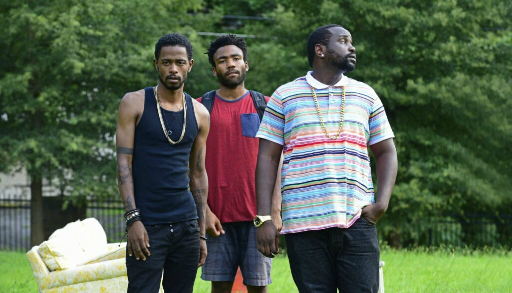 (L-R): Darius (Lakeith Stanfield), Earn (Donald Glover), Alfred (Brian Tyree Henry) - Atlanta - Credits: FOX