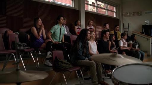 La classe del Glee CLub nell'episodio 3x17