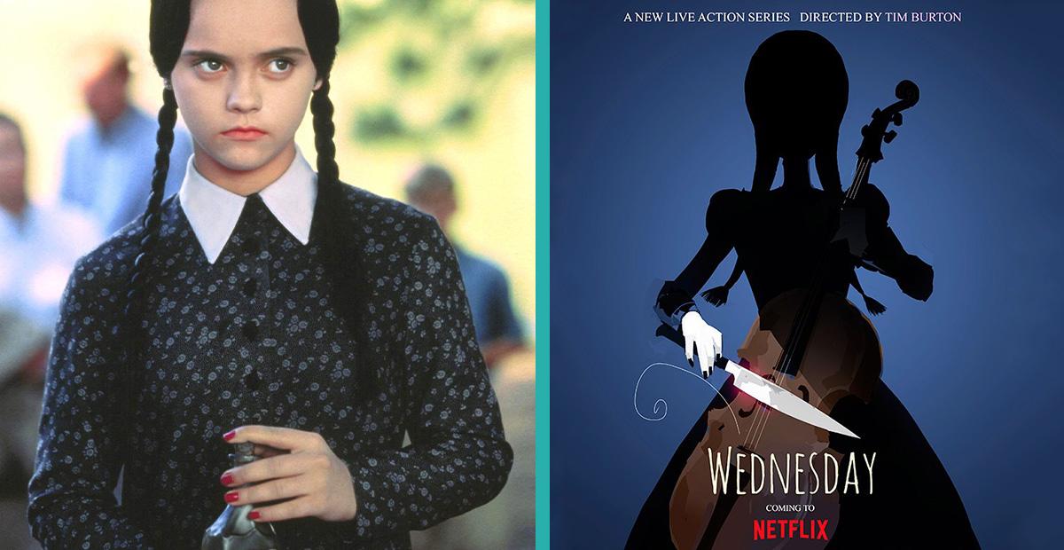Mercoledì Addams collage - netflix-FRAMED