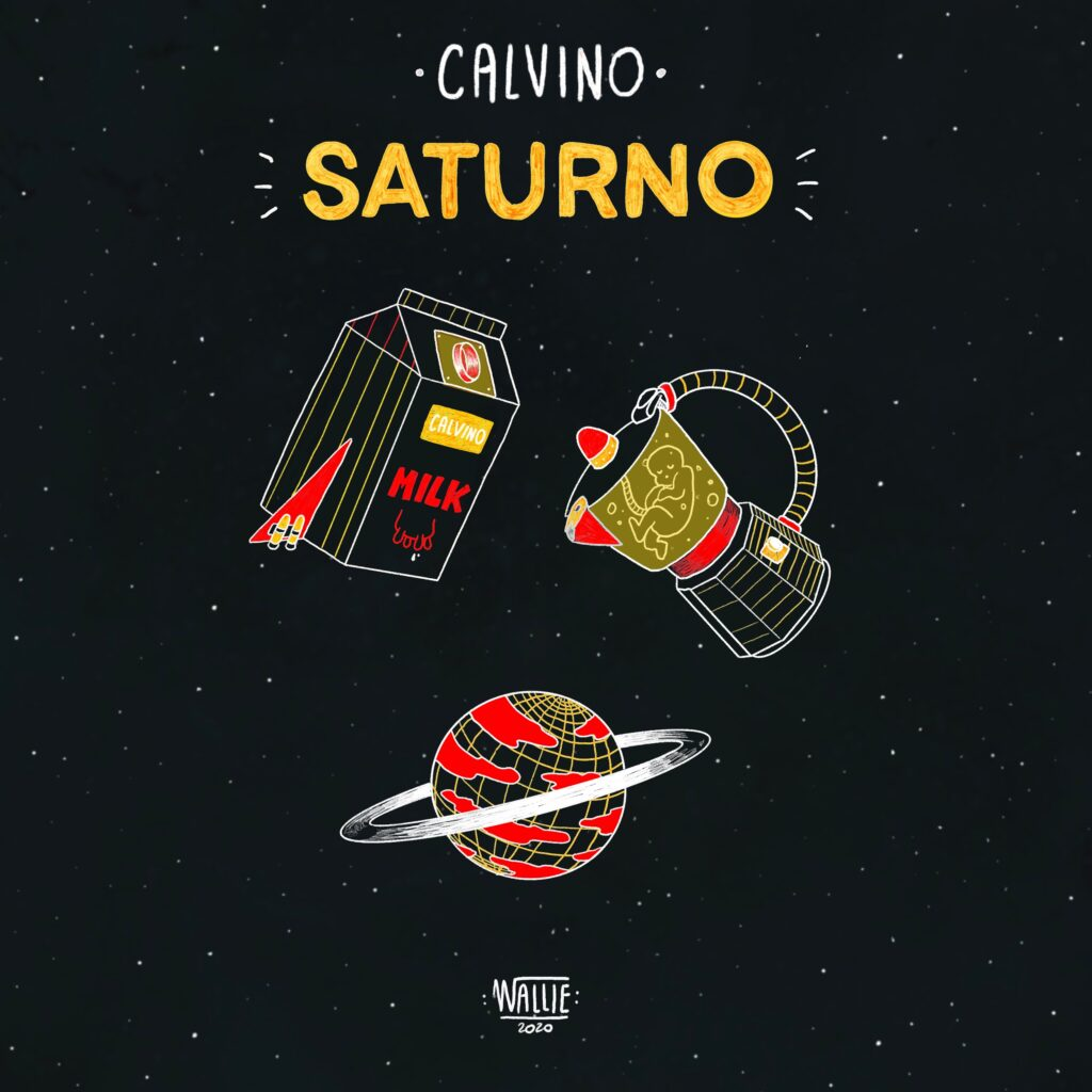 Illustrazione per il singolo Saturno - Courtesy of Astarte Agency - Credits: Wallie