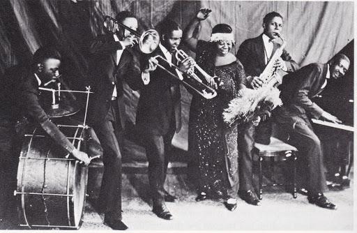 La band di Ma Rainey in una foto d'epoca