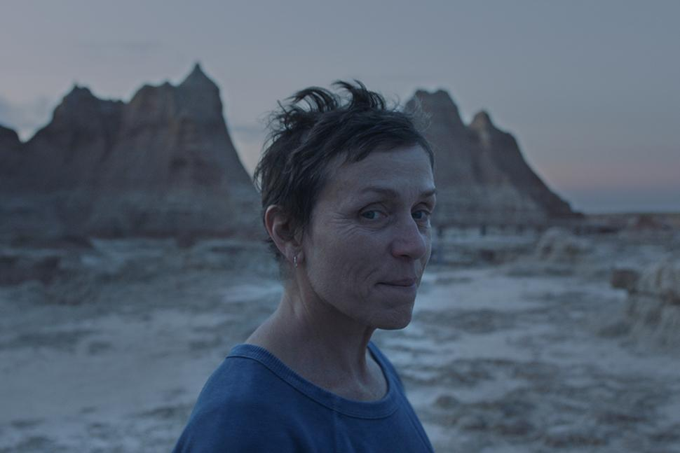 Frances McDormand in Nomadland. Credits: Searchlight Pictures, 20th Century Fox Studios.