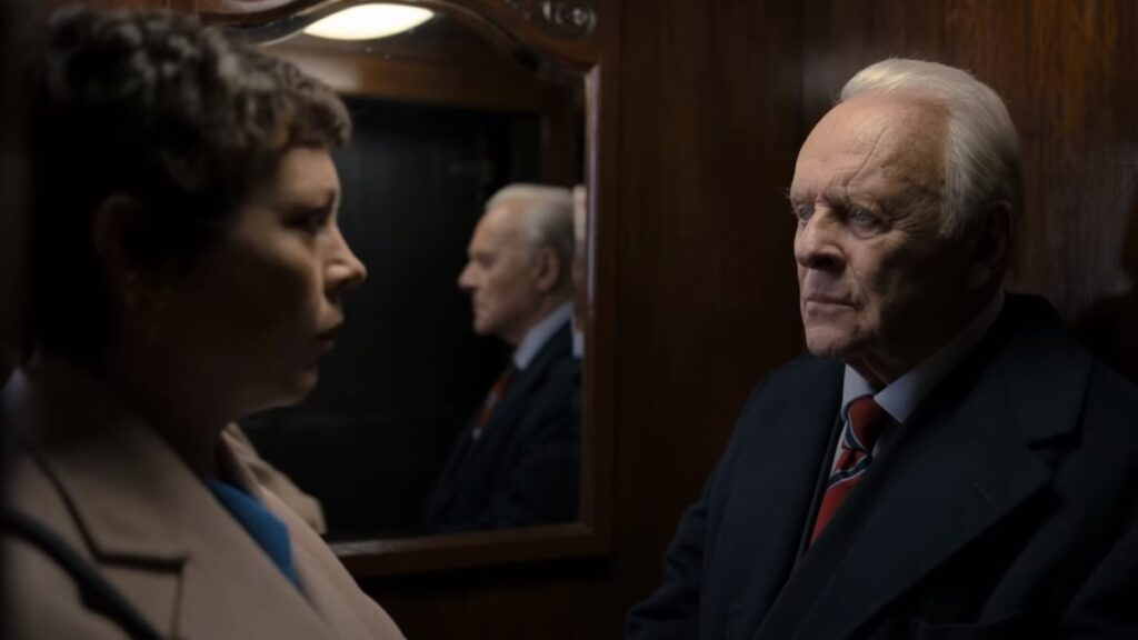 Olivia Colman e Anthony Hopkins, THE FATHER - Credits: F comme Film, Trademark Films