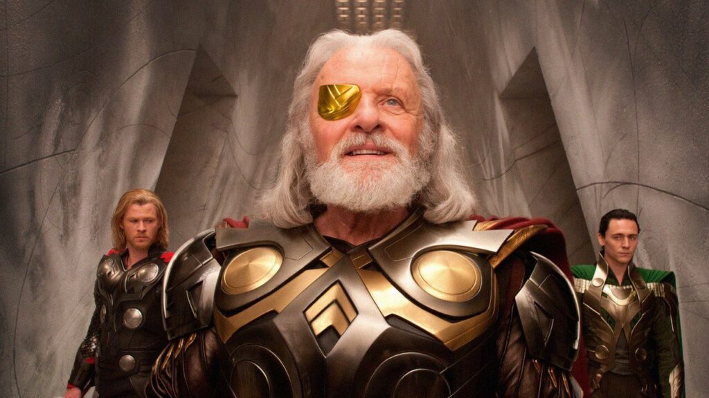 S-D: Chris Hemsworth, Anthony Hopkins, Tom Hiddleston in Thor - Credits: Marvel