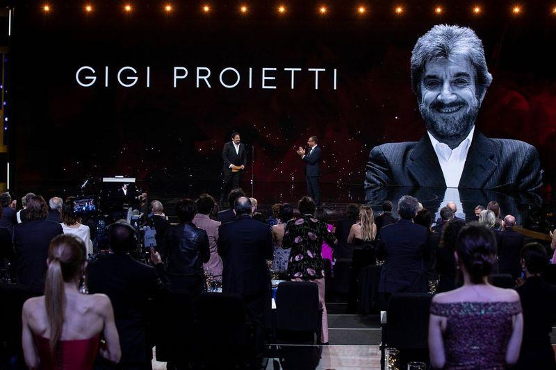 Omaggio a Gigi Proietti Foto di proprietà dell'Accademia del Cinema Italiano – PremiDavid di Donatello © Luca Dammicco