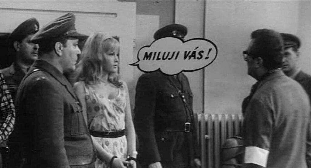 fantascienza umoristica anni '60: una scena da Superman vuole uccidere Jessie (Vàclav Vorlìcek, 1966)