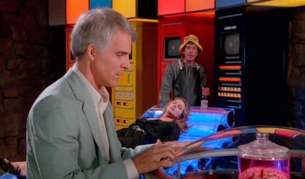 uno screenshot da Ho perso la testa per un cervello (Carl Reiner, 1983)