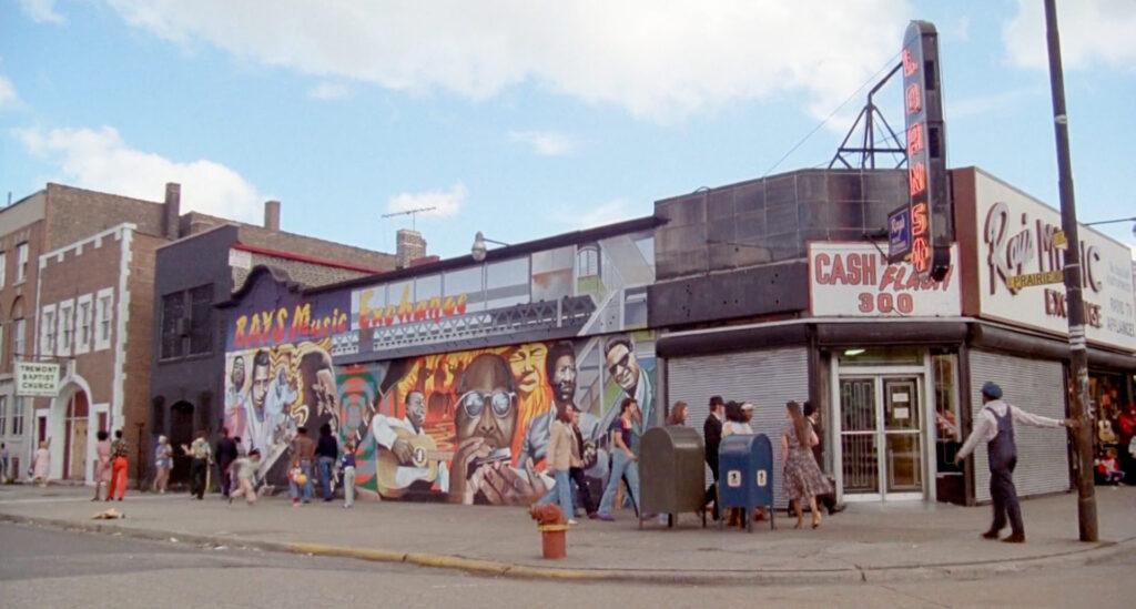 il Ray's Music Exchange in un fotogramma tratto da The Blues Brothers