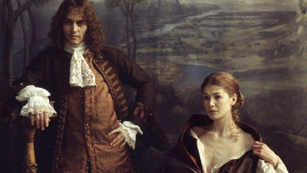 Johnny Depp e Rosamund Pike in The Libertine (2004)