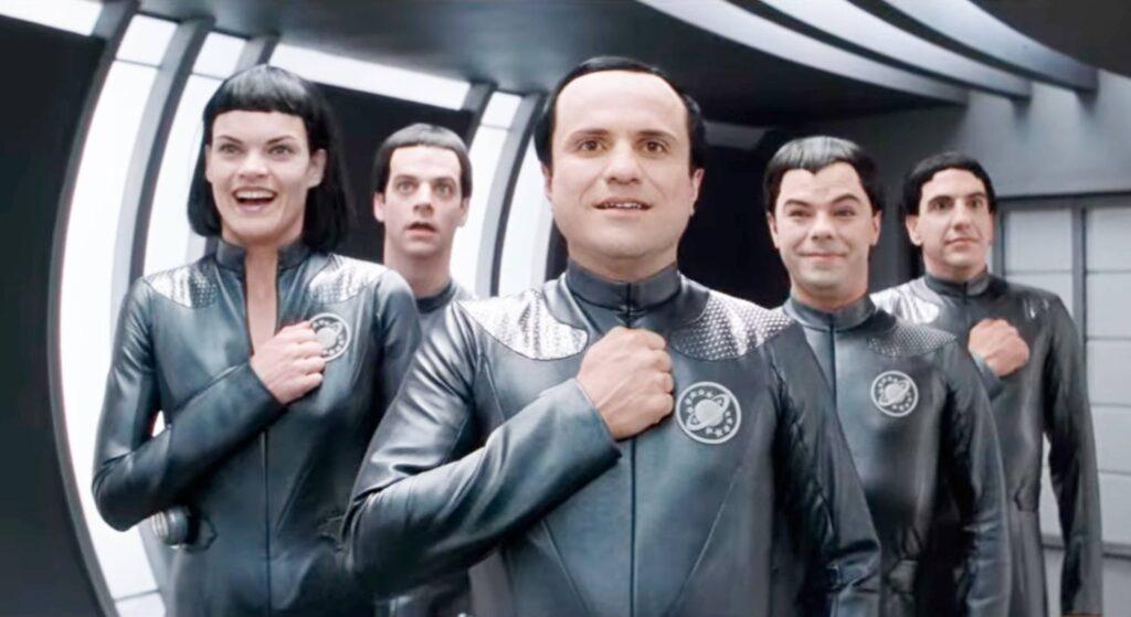 fantascienza umoristica anni '90: una scena da Galaxy Quest (Dean Parisot, 1999)
