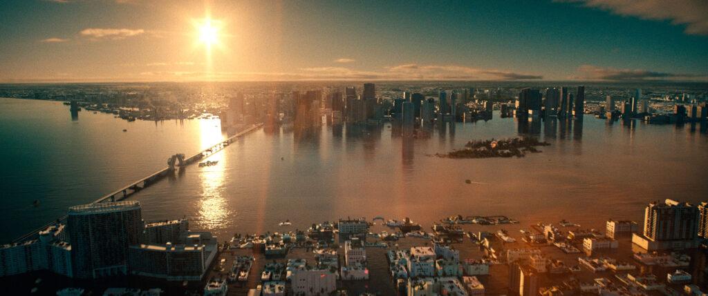 """Miami semisommersa in una scena di """"Frammenti dal Passato"""""""
