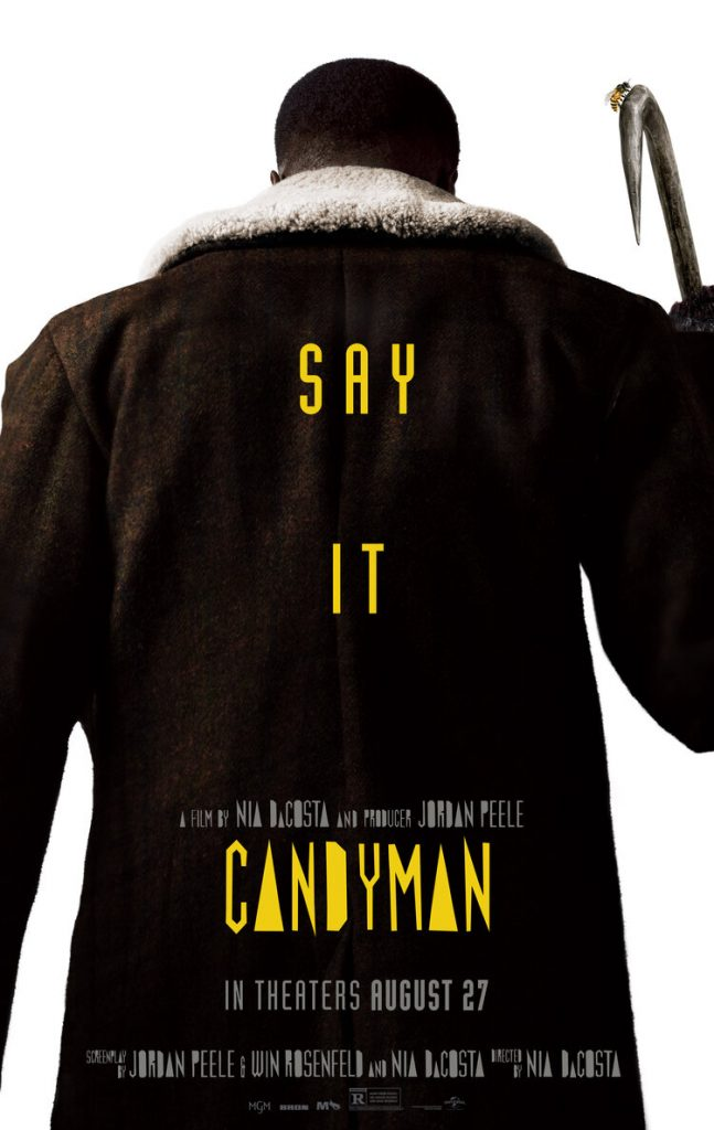 Yahya Abdul-Mateen II nell'eloquente poster originale di Candyman. Credits: Universal Pictures